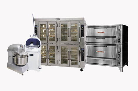 Typical commercial bakery equipment